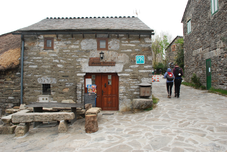 Beds and restaurant in O Cebreiro village, Galicia.