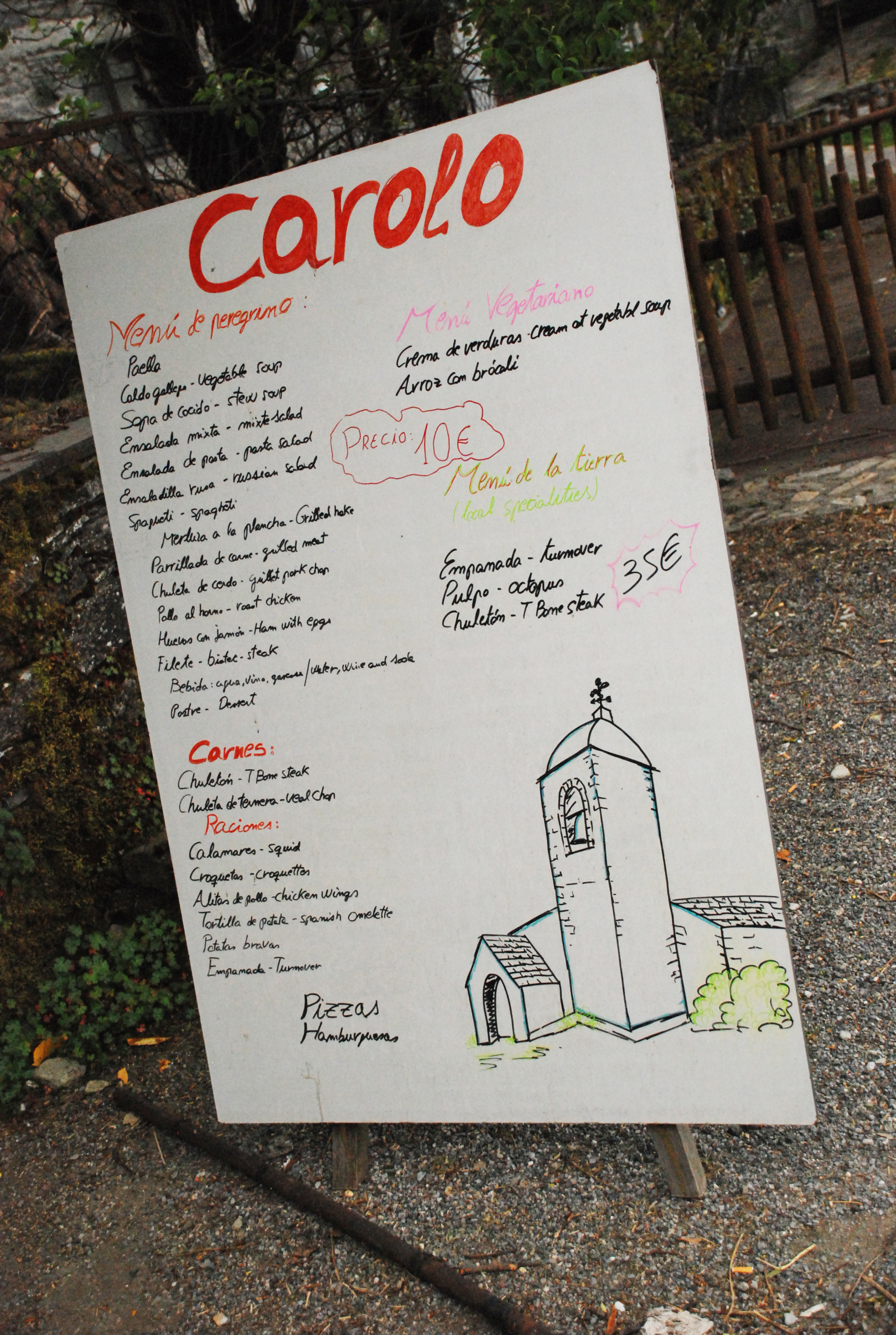 Pilgrim menu of the day