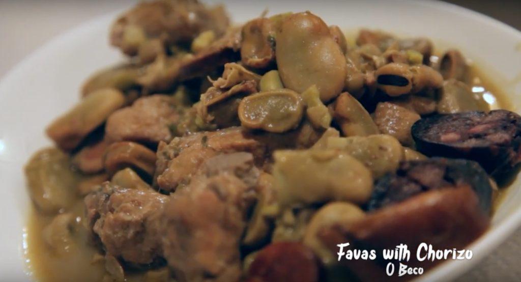 Favas with Chorizo at O Beco Lisbon