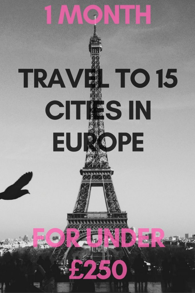 travel across Europe on a budget