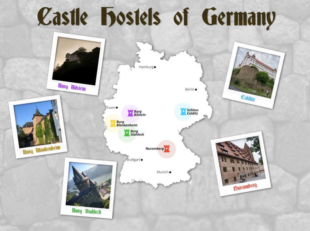 Castle-Hostels-Map