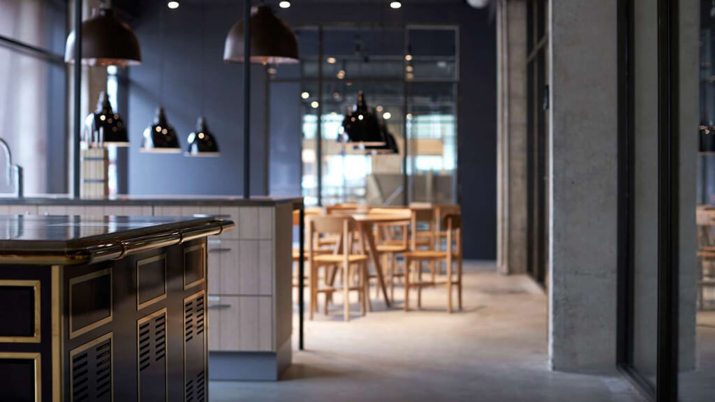 Dining area Steel House Copenhagen
