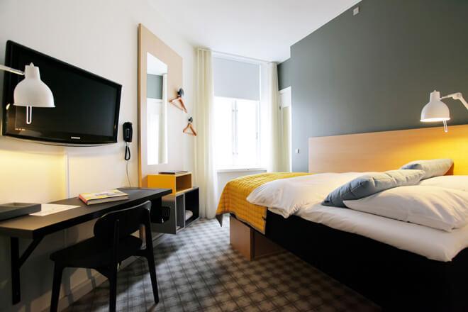 elegant bedrooms Ibsens Hotel Copenhage