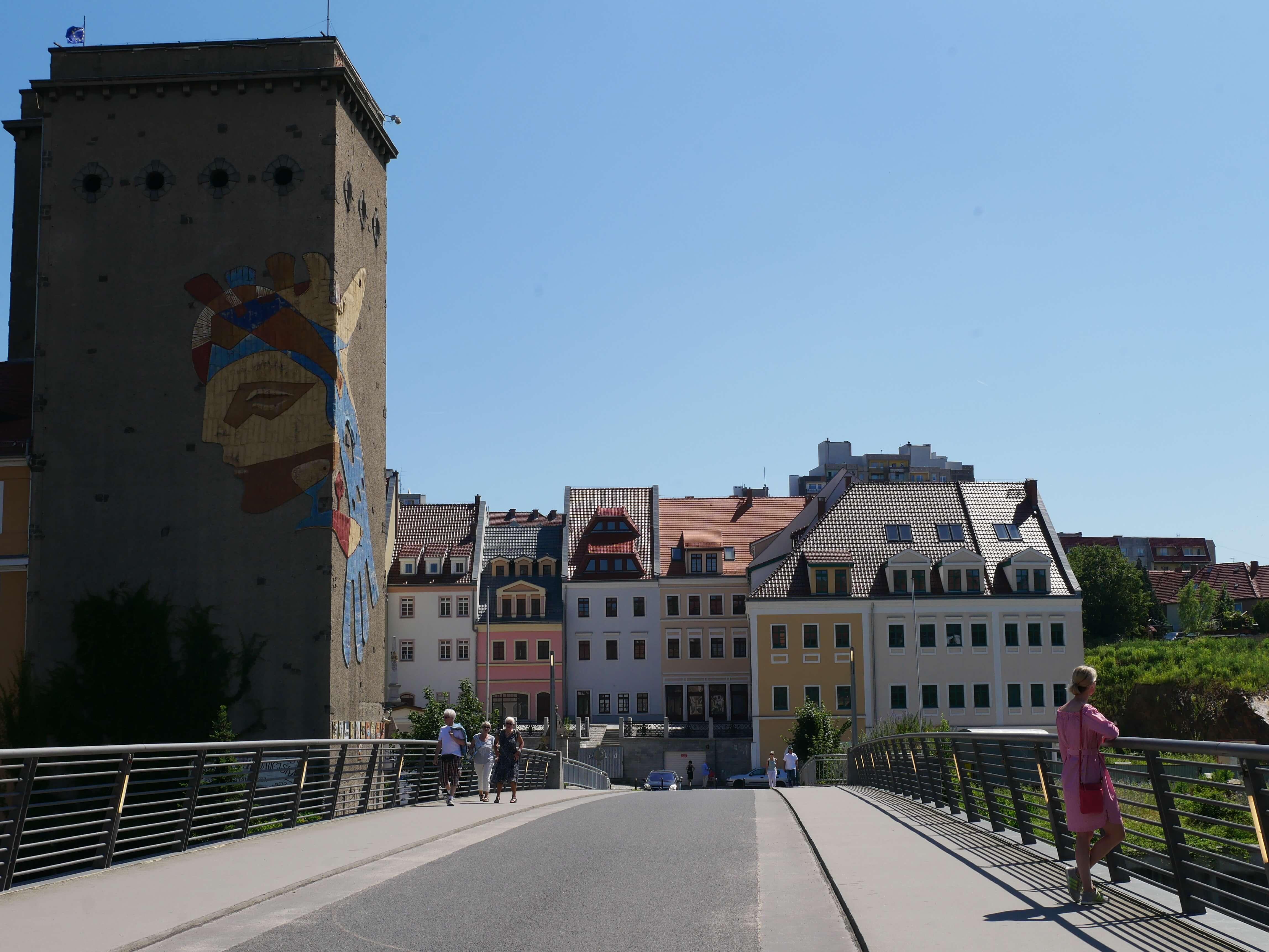 Aldstadtbrucke-old town bridge that connects Gorlitz and Zgorzelec