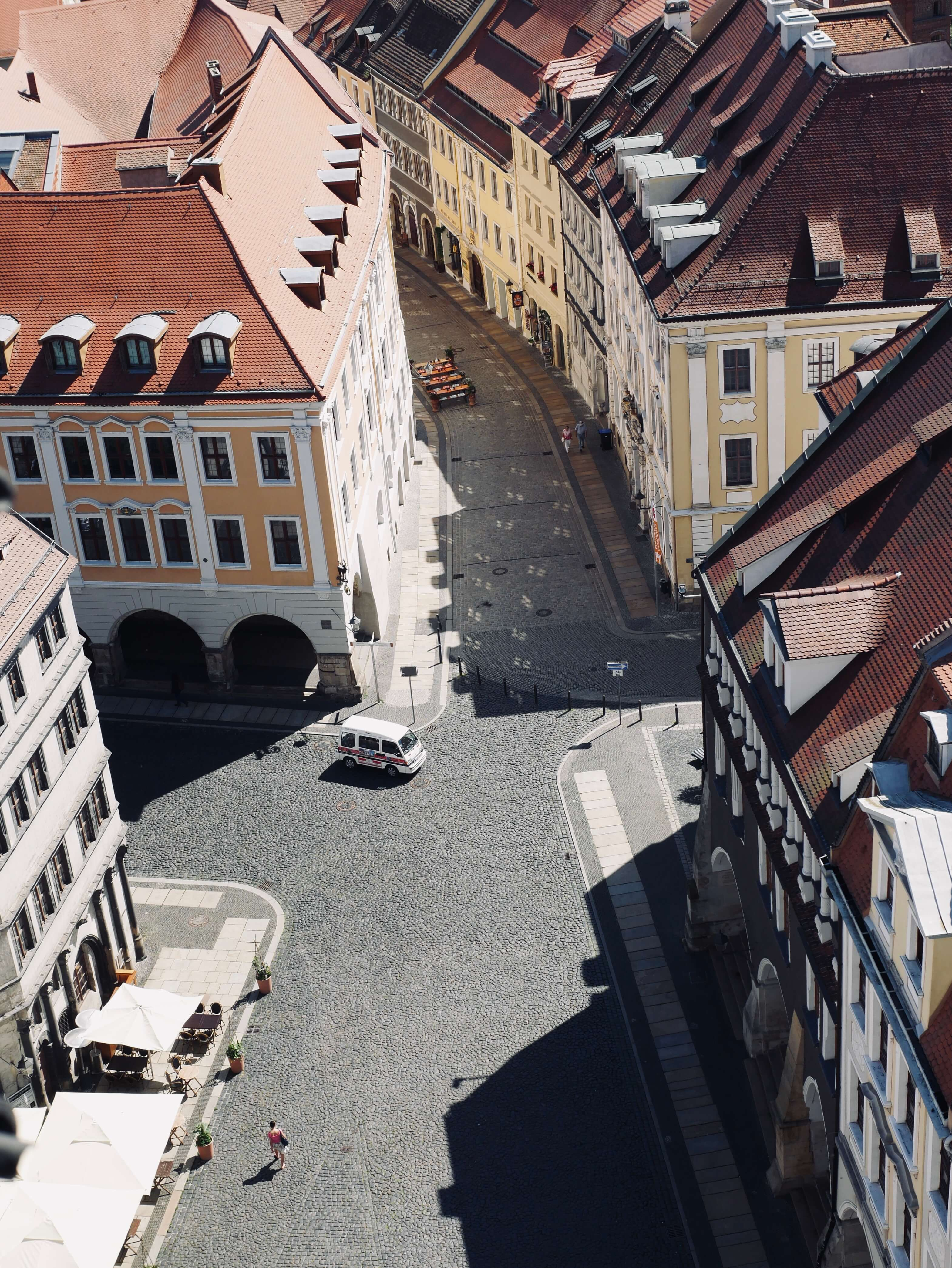 cobbled city centre square of Gorlitz