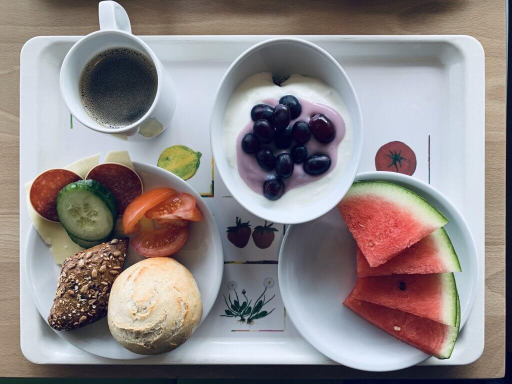 Fab buffet breakfast at Jugendherberge Waldbrol Panarbora Hostel