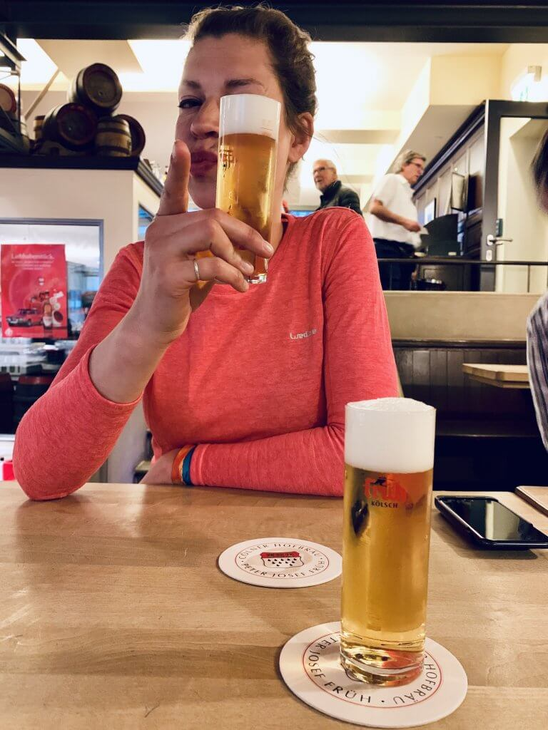 Sabrina approves the Kolsch beer but still doesn't think its the best beer in Germany
