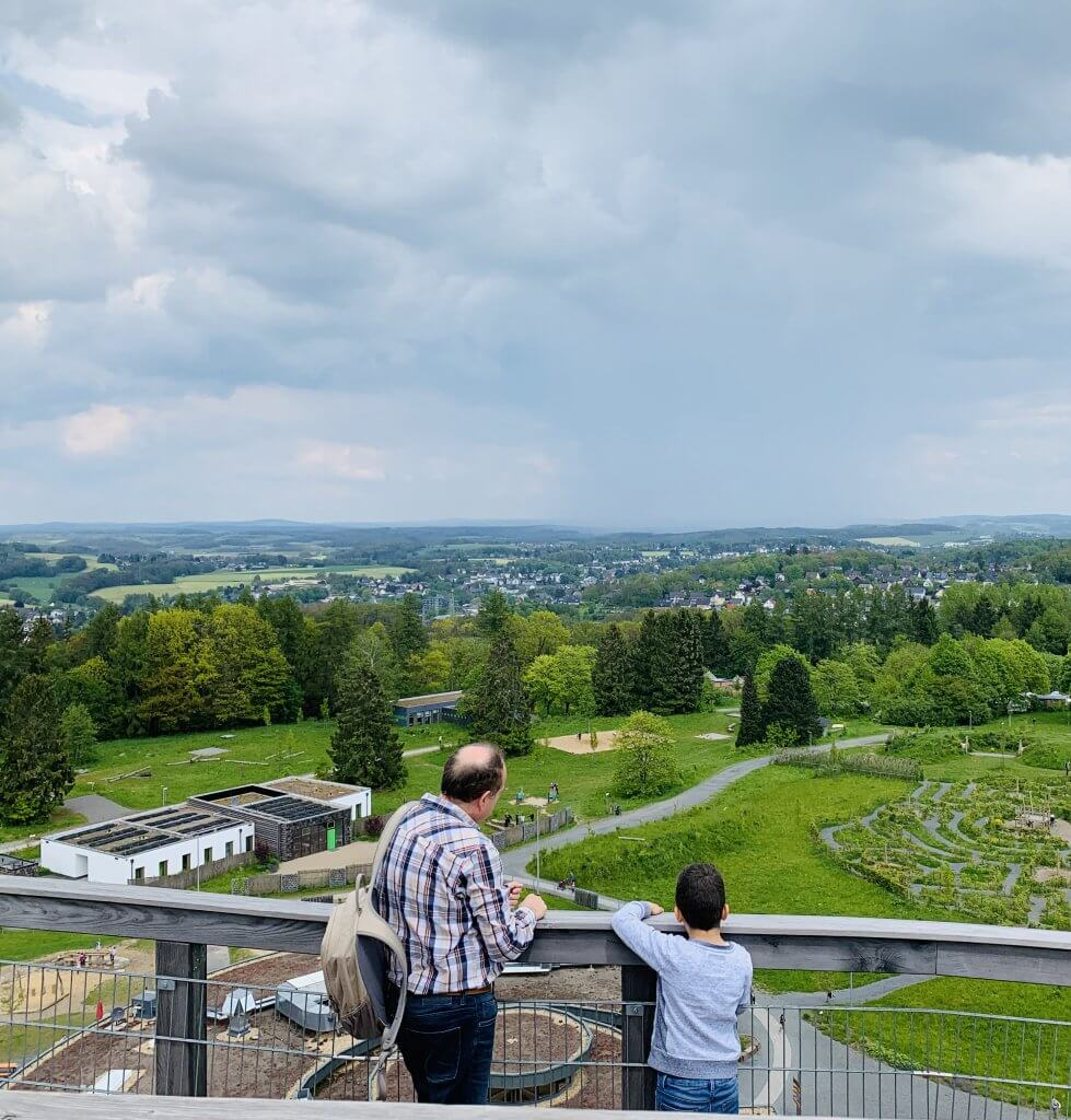 Epic views of the surrounding Bergische Land from the top of the Observation Tower