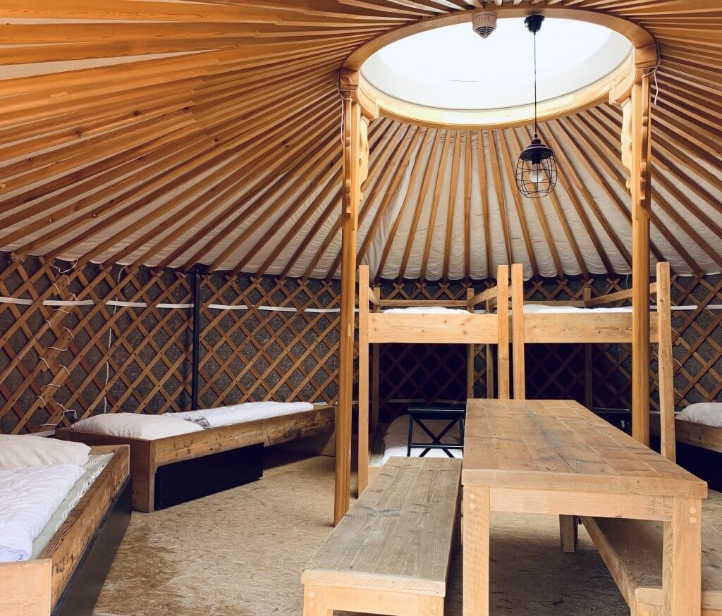Inside look at the Yurts